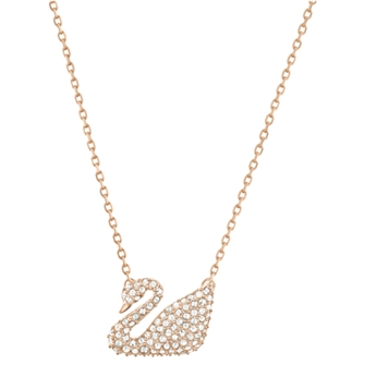 Swan Necklace Rose Gold 5121597