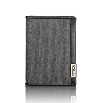 【SALE】ALPHA SLG Gusset card case 19256ATD Anthracite/Black