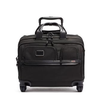 【SALE】ALPHA 3 Deluxe 4 Wheeled Laptop Case Brief 2603627D3 Black