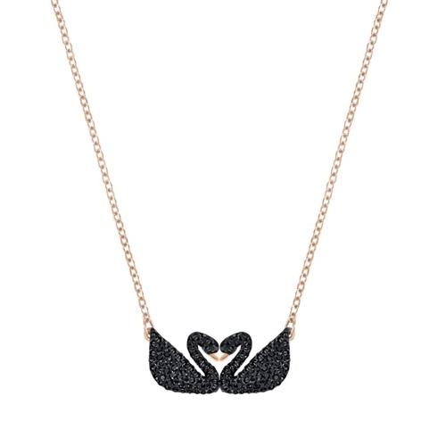 Iconic Swan Double ネックレス ブラック 5296468