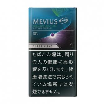 MEVIUS プレミアム メンソール OPTION パープル ワン 100's スリム 1mg