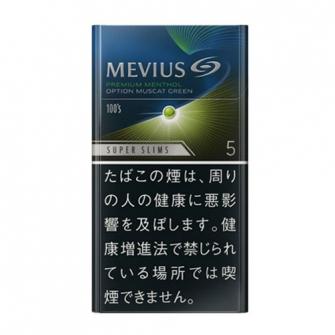 MEVIUS プレミアムメンソール オプション マスカットグリーン 5 100's スリム 5mg